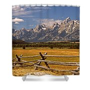 The Majestic Tetons Shower Curtain