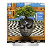 The Man And The Tree  Shower Curtain