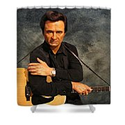 The Man In Black Shower Curtain