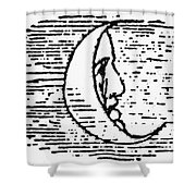 The Man In The Moon Shower Curtain by Granger
