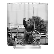 The Man Of Steel On I 95 Shower Curtain