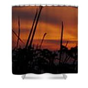The Marsh At Sunset Shower Curtain