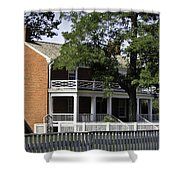 The Mclean House In Appomattox Virgina Shower Curtain