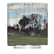 The Meadow Lined With Trees  Shower Curtain