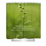 The Measure Of Love Shower Curtain