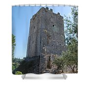 The Medieval Tower Shower Curtain