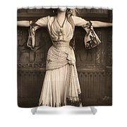 The Merry Widow Shower Curtain