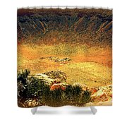The Meteor Crater In Az 1 Shower Curtain