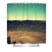 The Meteor Crater In Az 4 Shower Curtain