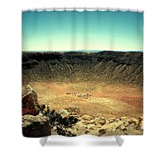 The Meteor Crater In Az Shower Curtain
