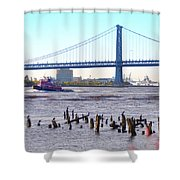 The Mighty Delaware River Shower Curtain