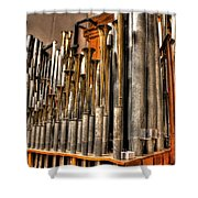 The Mighty Wurlitzer Pipes Detroit Mi Shower Curtain