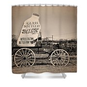The Milk Wagon Shower Curtain