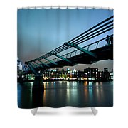 The Millennium Bridge Shower Curtain