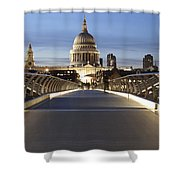 The Millennium Bridge Looking North Shower Curtain