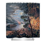 The Mississippi In Time Of War Shower Curtain