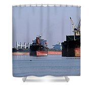 The Mississippi River Shower Curtain