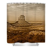 The Mittens At Monument Valley Shower Curtain