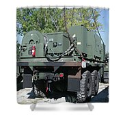 The Mk48 Logistics Vehicle System Shower Curtain