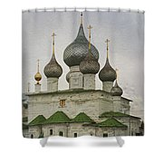 The Monastery Of The Resurrection. Uglich Russia Shower Curtain