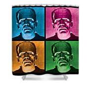 The Monster X 4 Shower Curtain by Gary Grayson