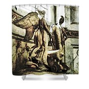The Monument To Captain Richard Rundle Burges Shower Curtain