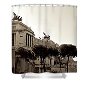 The Monumento Nazionale A Vittorio Emanuele II Shower Curtain