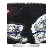 The Moon And Two Rocks Shower Curtain