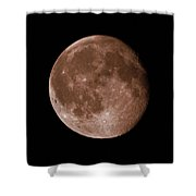 The Moon In Sepia Shower Curtain