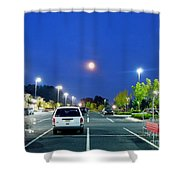 The Moon's Competition Shower Curtain