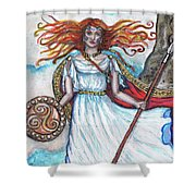 The Morrigan Shower Curtain