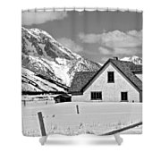 The Moulton House In Winter Shower Curtain