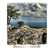 The Mountain Lookout Shower Curtain