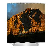 The Mountain Says Good Morning Shower Curtain
