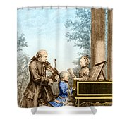 The Mozart Family On Tour 1763 Shower Curtain