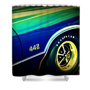 The Muscle Car Oldsmobile 442 Shower Curtain