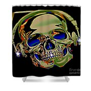 The Music Goes On Forvever Shower Curtain