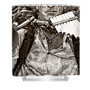 The Music Man - Monochrome Shower Curtain