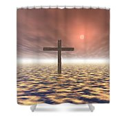 The Mystery Of The Cross Shower Curtain