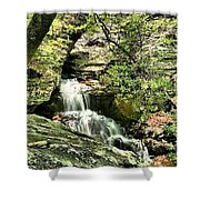 The Mystery Waterfall Shower Curtain