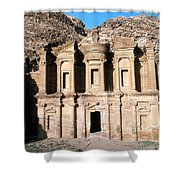 The Nabateian Temple Of Al Deir Shower Curtain