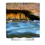 The Narrows Virgin River Zion 4 Shower Curtain