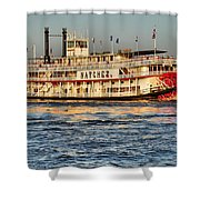 The Natchez Riverboat Shower Curtain