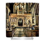 The Nave At St Davids Cathedral 2 Shower Curtain