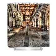 The Nave At St Davids Cathedral 3 Shower Curtain