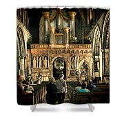The Nave At St Davids Cathedral Shower Curtain