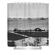 The Navy Fleet In New York Bay Shower Curtain