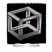 The Necker Cube Shower Curtain