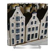 The Netherlands, Amsterdam, Model Houses Shower Curtain