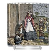 The New School Mistress Shower Curtain